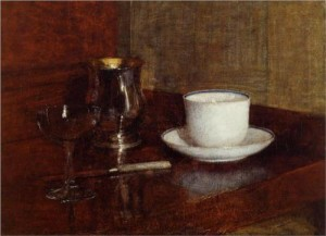 Still Life Glass, Silver Goblet and Cup of Champagn Artist: Henri Fantin-Latour