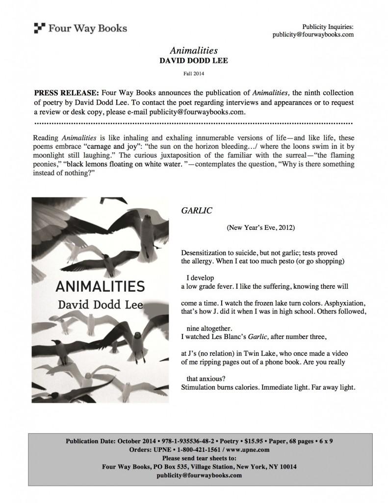 Press Release_Animalities by David Dodd Lee copy