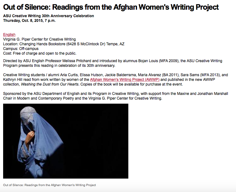Afghan Women's Writer's Project