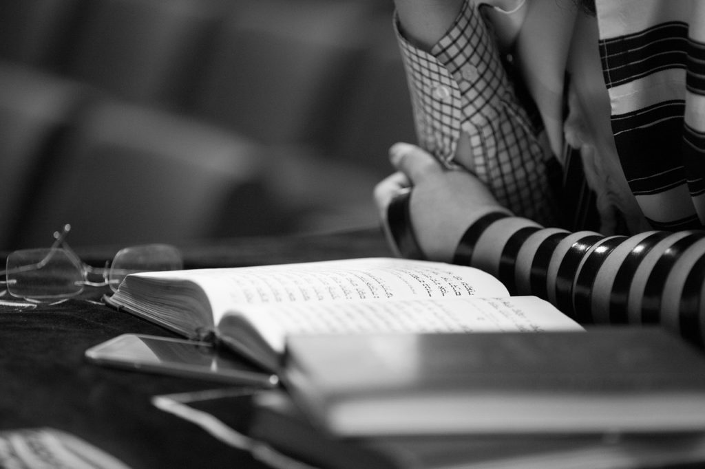 Man Reading Torah