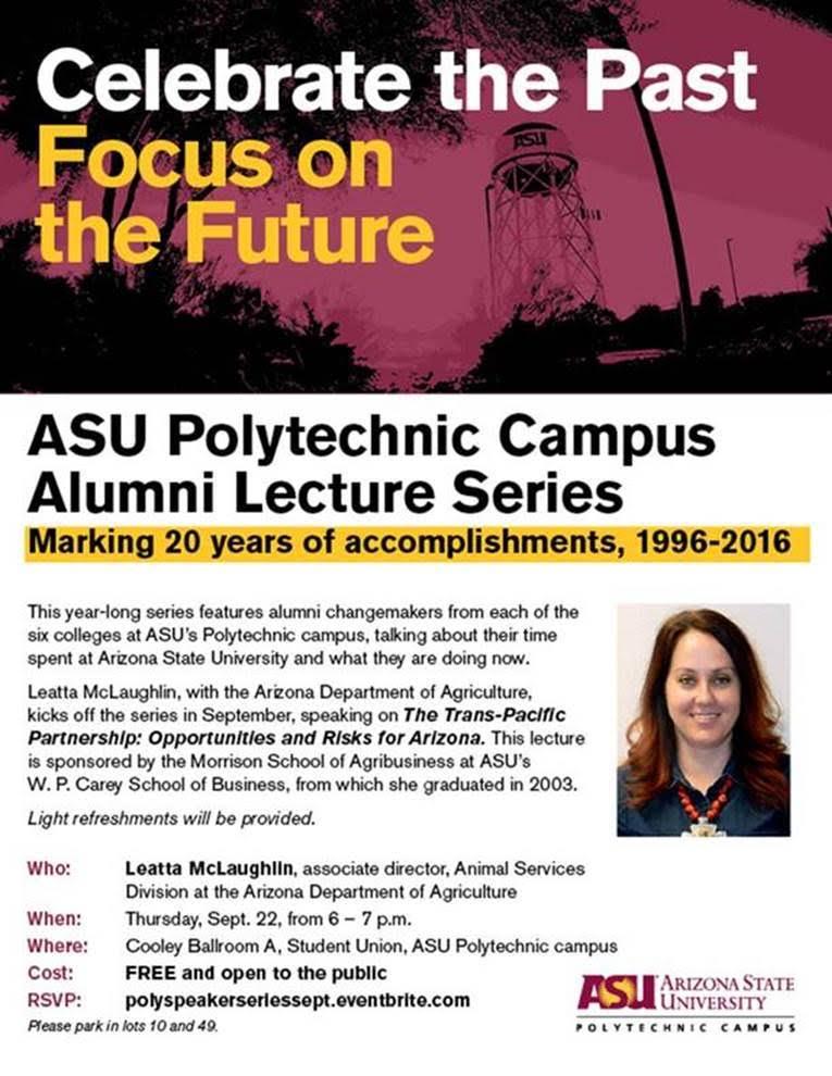 ASU Polytechnic Campus Alumni Lecture Series
